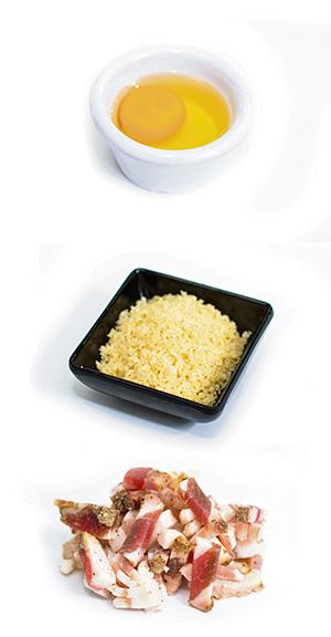 Ingredientes Espagueti carbonara