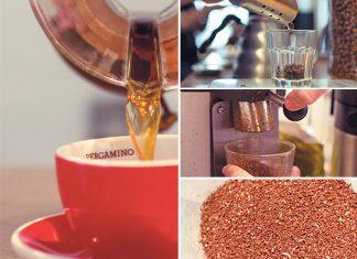 Una taza de café manual en chemex