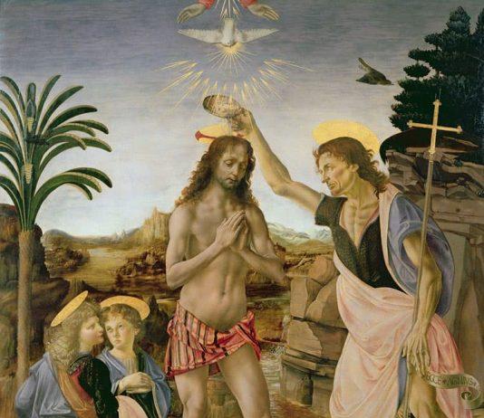 En Bautismo de Cristo se reconoce la mano de Leonardo da Vinci en la pintura del ángel