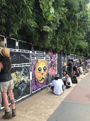 Pintura muro de la 10