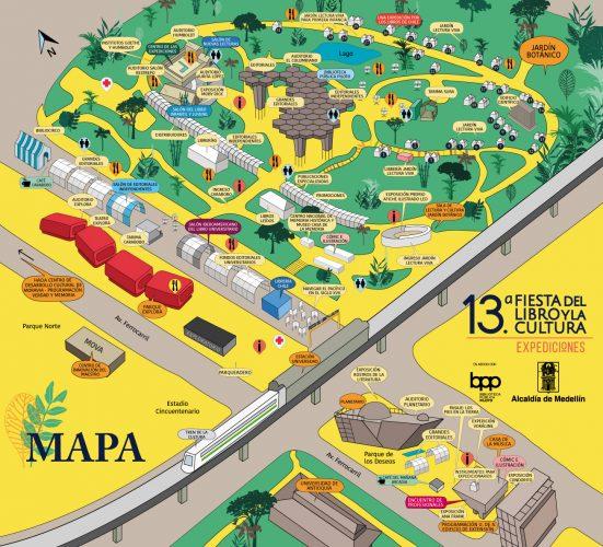 Mapa Fiesta del Libro 2019