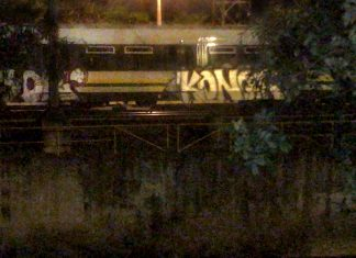 Grafitis en el Metro