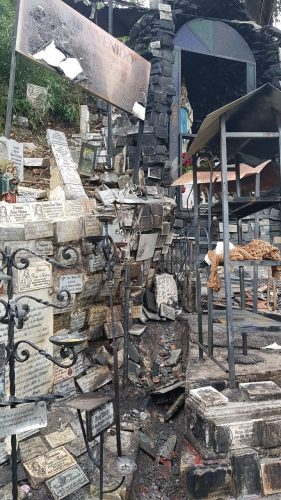 Placas afectadas por el incendio