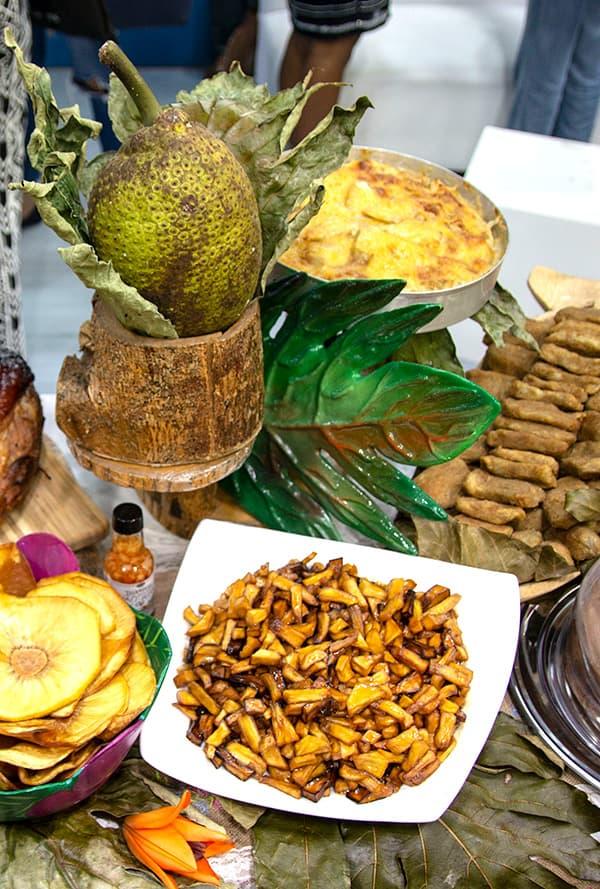 Preparaciones con el fruto del árbol del pan. Fotos Jose Salazar Jaramillo