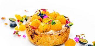 Pie de limón y frambuesas