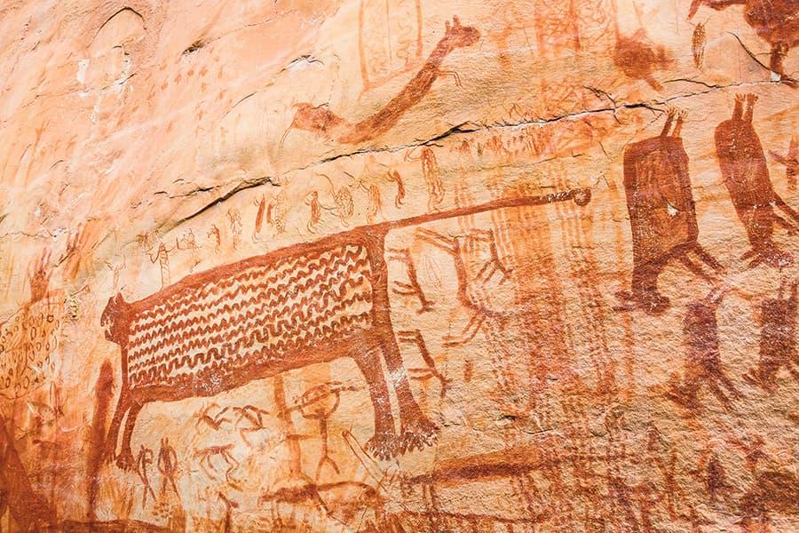 Foto pictogramas en tepuy: cortesía Fundación Herencia Ambiental,  tomada por Jorge Mario Álvarez Arango.