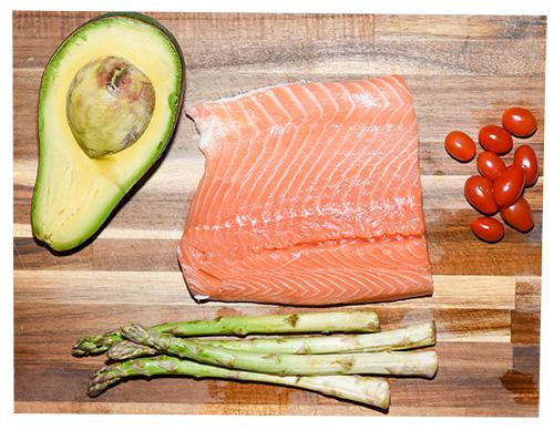 Ingredientes Ensalada de salmón y espárragos