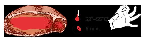 Términos de cocción de la carne POCO HECHO