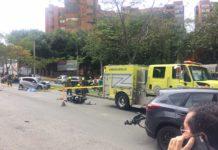 Una motociclista murió en choque múltiple en Los Balsos