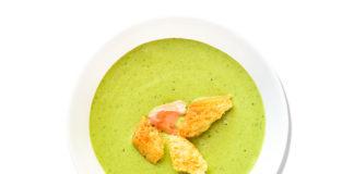 Receta crema de zucchini y coriandro