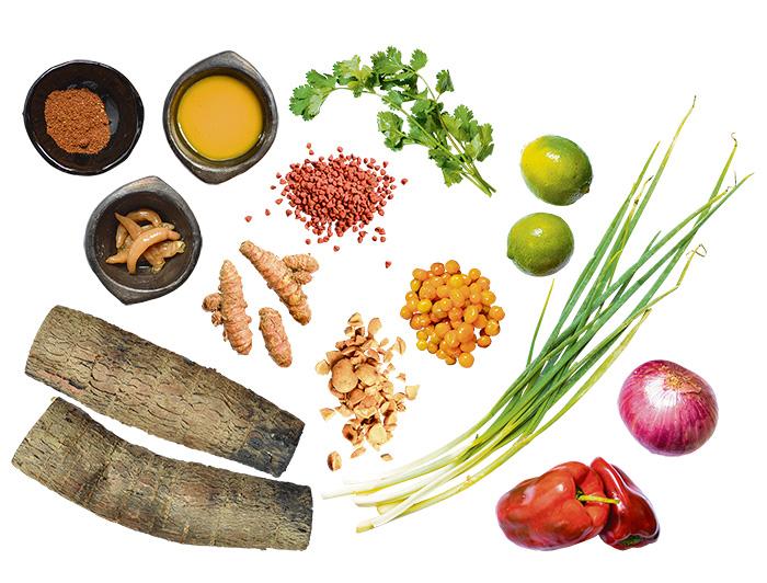 Ingredientes Ají sabroso