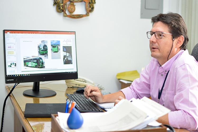 Jorge Rico Roldán lleva seis meses como gerente de Autobuses El Poblado Laureles.