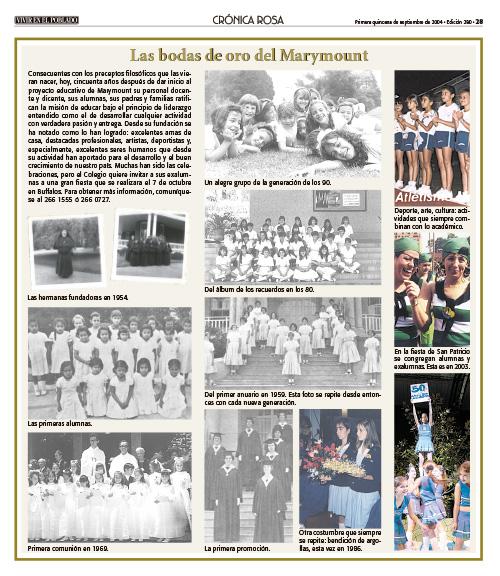 Las bodas de oro del Marymount