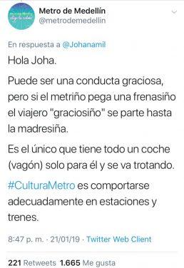 Metro de Medellin Twitter