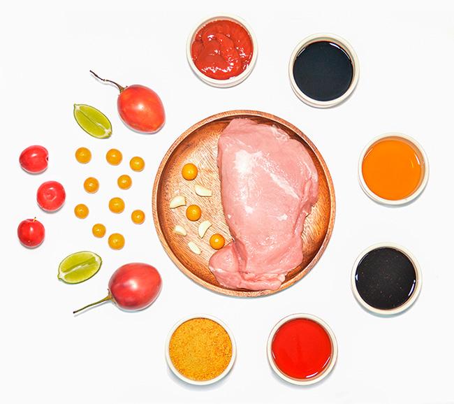 IngredientesPernil de cerdo con salsa tropical