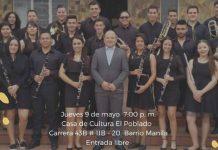 Retreta de mi Pueblo. Concierto tradicional de diferentes géneros musicales propios de las bandas de viento con la Banda Sinfónica de San Pedro de los Milagros.