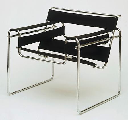 Silla Wassili - Autor Marcel Breuer - 1925. Fotos tomadas de la página del museo Bauhaus Dessau.