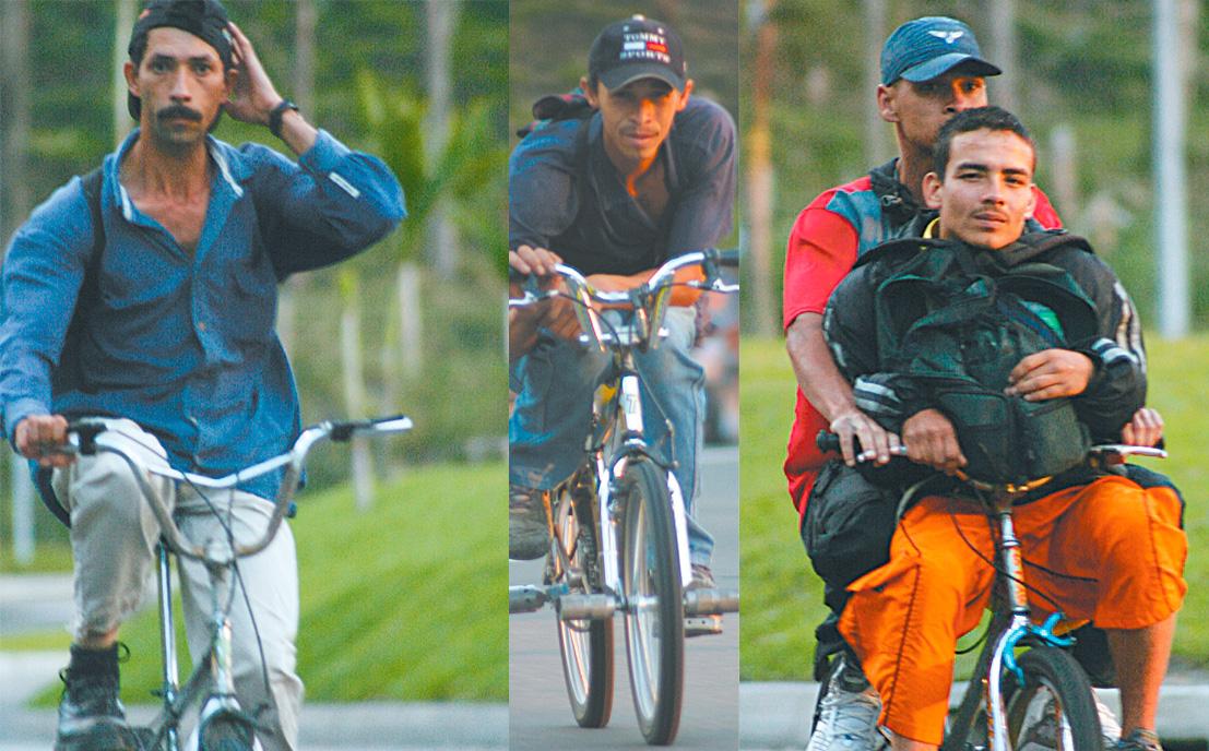 ciclistas en El Poblado
