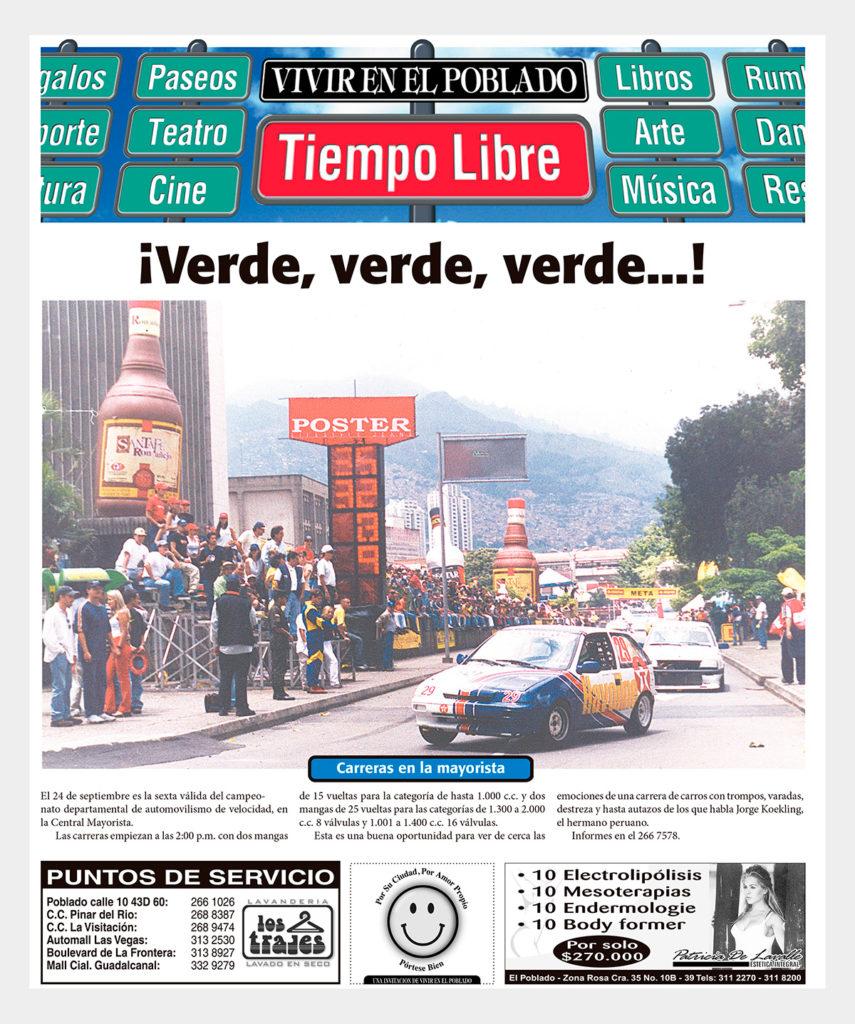 #tbt automovilismo en las calles de Medellín
