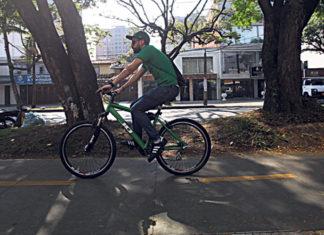 trabajar en bicicleta