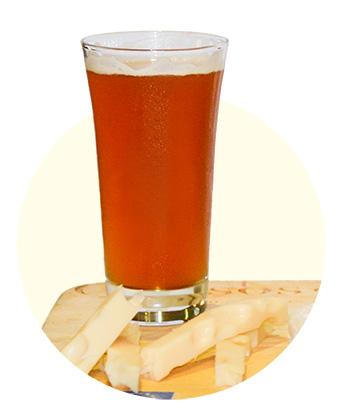 Emmental + Amber Ale