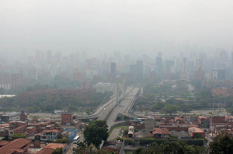 Contaminación del aire en Medellín
