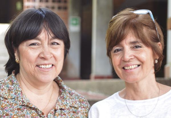 Ana Isabel Duque y Laura Victoria Duque, maestras y fundadoras del Colegio Waldorf Isolda Echavarría.