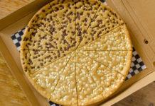 Pizza de galletas cósmicas