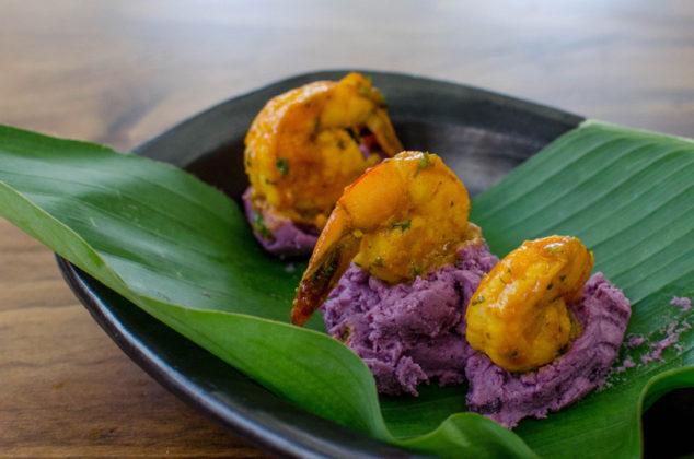 Langostinos en salsa de coco