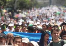 Marcha estudiantil el 10 de octubre (Foto archivo VEEP)