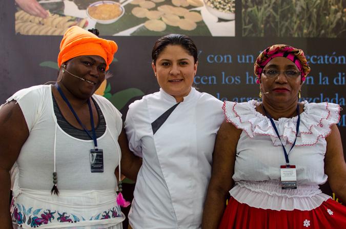 María Liliana Quinto, Sandra Milena Giraldo y Dulcenombre Rodríguez