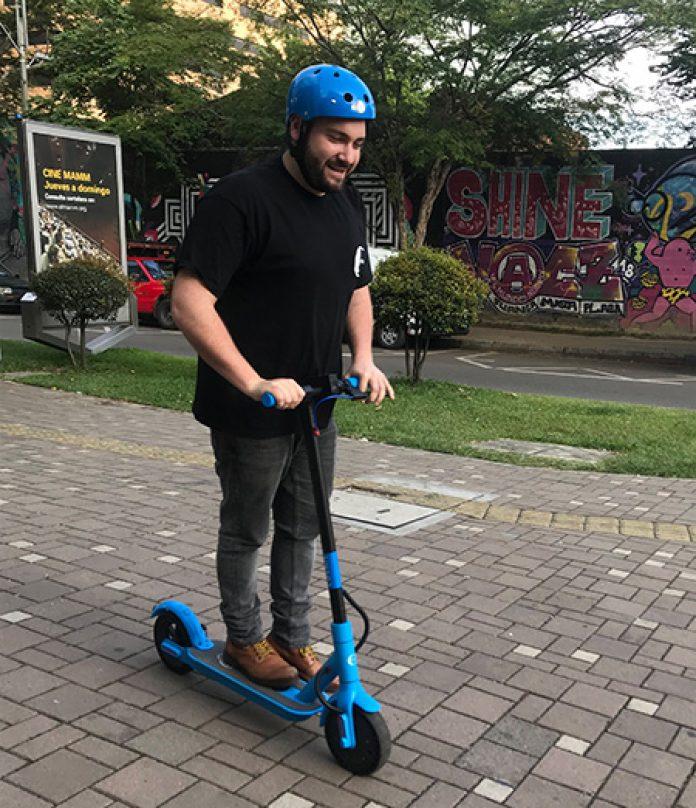 Una app para recorrer la ciudad en scooter